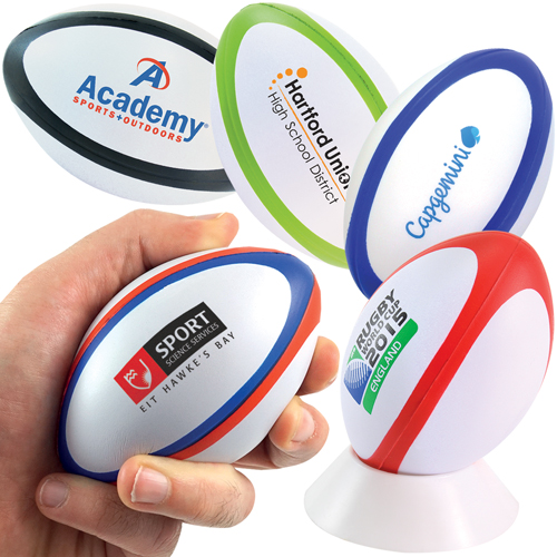 Stress Dual Colour Rugby Ball *