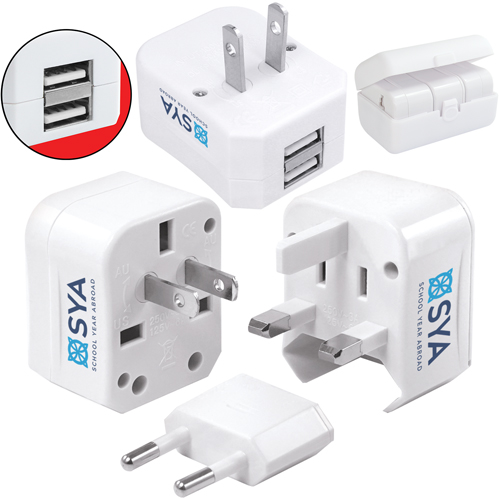 Worldwide Travel Adaptor - 5-in-1 (with USB)