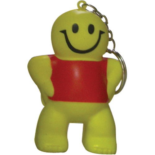 Stress Smiley Man Keyring