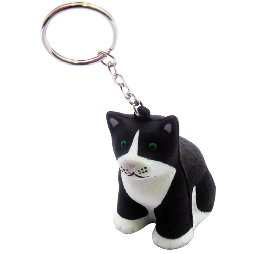Stress Cat Keyring